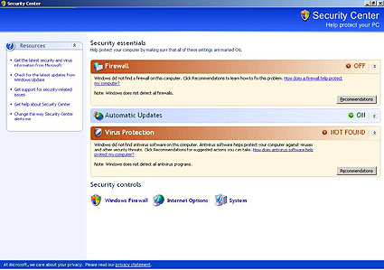 virus protection for windows xp free
