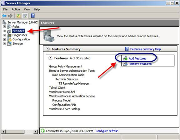 How to configure a Telnet Server with Windows Server 2008