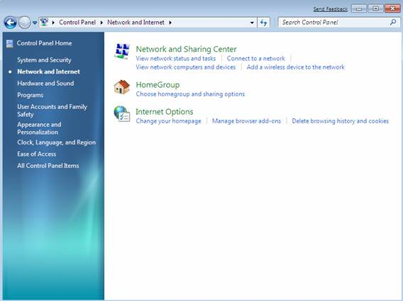 how to find network settings on windows 7