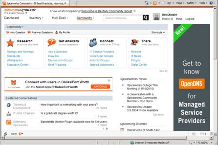 WatFile.com Download Free Spiceworks provides network monitoring and helpdesk software